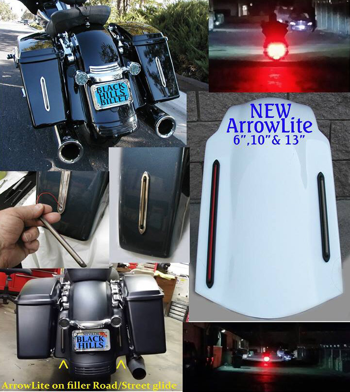 Arrowlite Led Taillights For Motorcycle Saddlebags  U0026 Filler Panels By Black Hills Billet