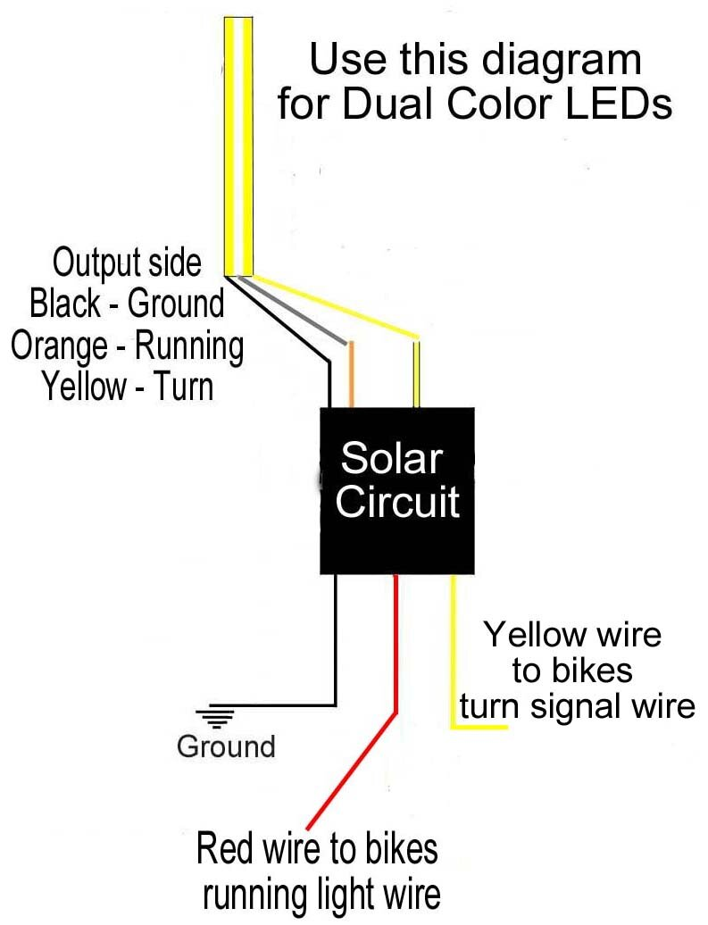 solar circuits motorcycle led turn signal wiring harness circuits 57 Chevy Turn Signal Wiring Diagram solar circuits turn signal circuits solar circuits single color wiring diagram solar circuits dual color wiring diagram