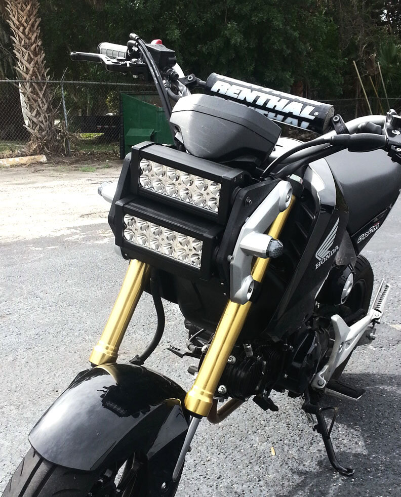 Honda Grom MSX 125 Double LED Light Bar Headlight Conversion Kit