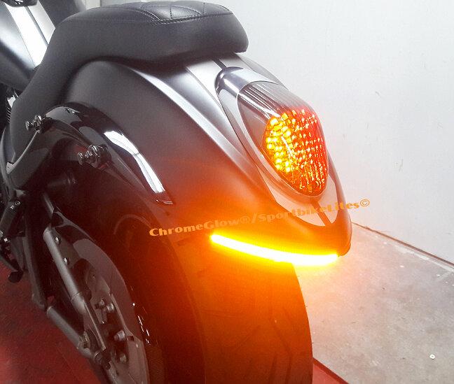 Kawasaki Vulcan VN 900 Custom Fender Eliminator with LED ... on