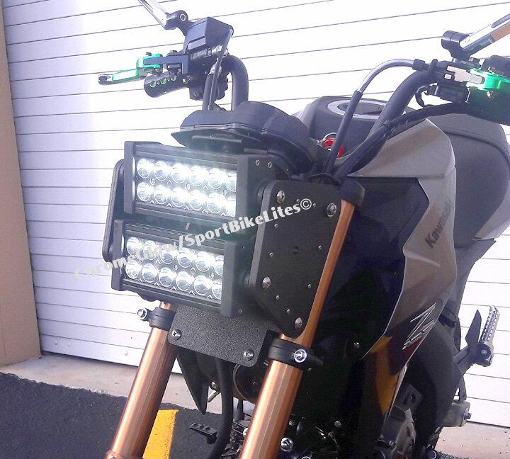 Kawasaki Z125 Pro Double Row LED Headlight Conversion Kit