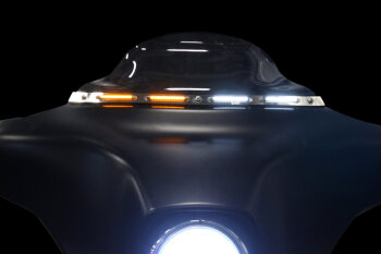 Motorcycle Windshield Trim and Fairing LED Turn Signals and
