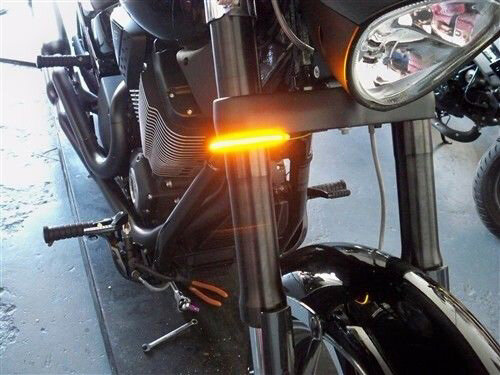 Motorcycle and Sport Bike Fork Mounted LED Turn Signal Kit