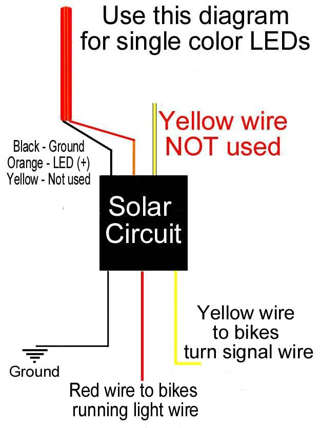 Solar Circuits Motorcycle LED Turn Signal Wiring Harness ... on