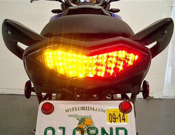 Integrated LED Tail Brake Light /& Turn Signals For KAWASAKI Versys 1000 2012-18