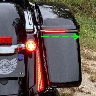 Low Profile Sequential Bagz Motorcycle Run-Brake-Turn LED