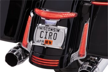 Motorcycle License Plate Frames with LED Turn Signals