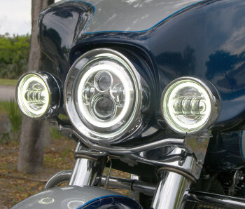 Motorcycle LED Headlight Housings, Buckets, and fixtures