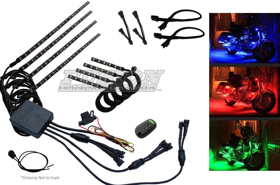 Fusion Color Changing Motorcycle LED Accent Kits for HDs