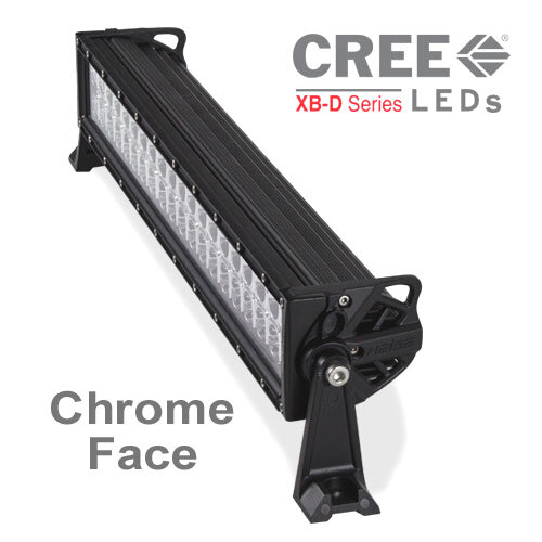 Off-Road Heise Straight LED Light Bars with Chrome Face on