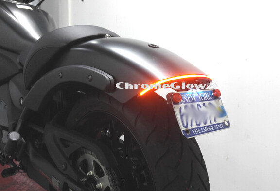 Kawasaki Vulcan S LED Fender Eliminator Taillight Kit on