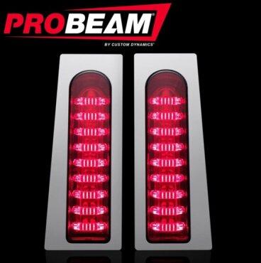 Custom Dynamics ProBEAM Fillerz Saddlebag Support LEDs Chrome PB-Fill-R-C