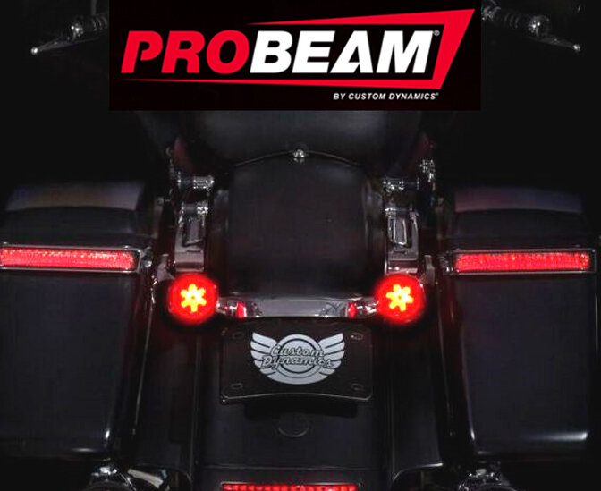Probeam Bullet Style Solid Led Turn Signals With Lenses Red Amber Sku Pb R A